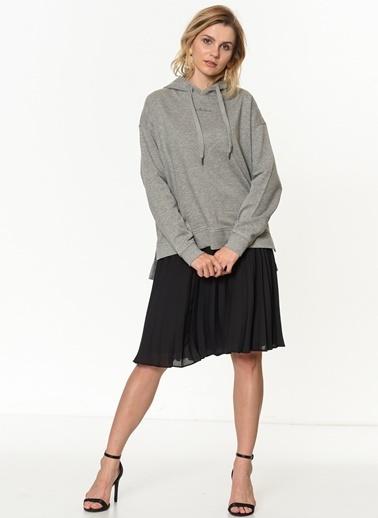 Vero Moda Kapüşonlu Sweatshirt Gri